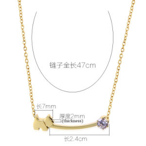 Stylish Women Costume Jewelry Gold Plated Stainless Steel Fashion Necklace pictures & photos