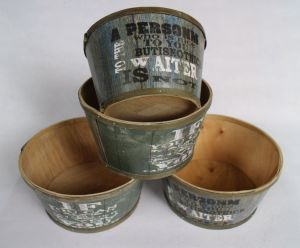 Manufacturers Selling Green Printing Quality and Practical Flowerpot pictures & photos