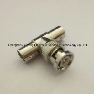 Bulkhead BNC Metal One Male to Double BNC Female of Coaxial Connector pictures & photos