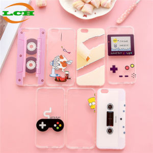 Retro and Whimsy Soft TPU Color Drawing Phone Case for iPhone pictures & photos