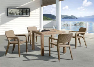 New Design Garden Rattan Chair and Wood Table pictures & photos