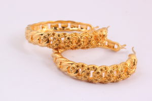 Wholesale Stainless Steel Hoop Earrings with Gold Ball pictures & photos