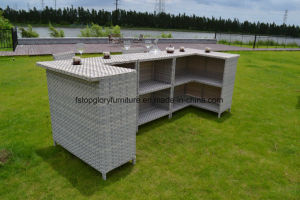 Garden Rattan Furniture Bar Set with Cushion for Outdoor (TG-6003) pictures & photos