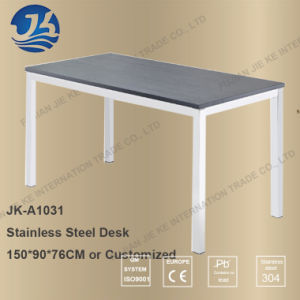 China Simple Modern HK Style Stainless Steel Wooden Work Desk