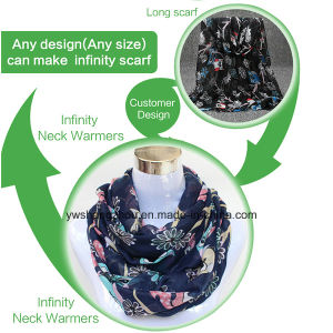 2017 Customer Design Viscose Lady Fashion Infinity Scarf Neck Warmer pictures & photos