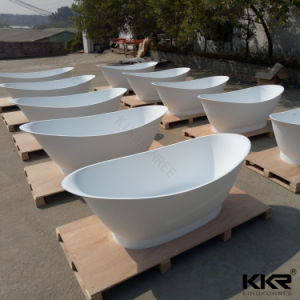 Artificial Stone Kkr Freestanding Solid Surface Bathtubs pictures & photos