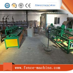 Single Wire Fully Automatic Chain Link Fence Making Machine for India Market pictures & photos