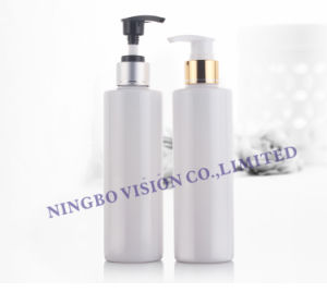 200ml Cylinder Pet Bottle with Aluminum Collar Lotion Pump pictures & photos