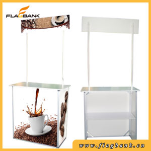 Portable Plastic Promotion Counter with Top Board pictures & photos