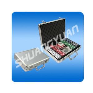 Poker Chip Set 200 in Plain Surface Aluminum Case pictures & photos