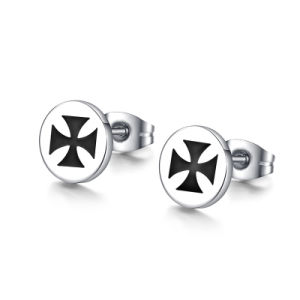 Stainless Steel Jewelry Fashion Simple Men Cross Stud Earrings pictures & photos