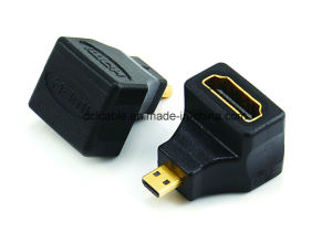 90 Degree Micro HDMI Male to HDMI Female Adapter pictures & photos