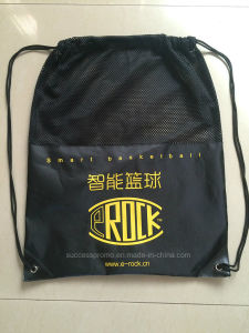 Custom Promotion Drawstring Bag, Backpack with Mesh Fabric pictures & photos