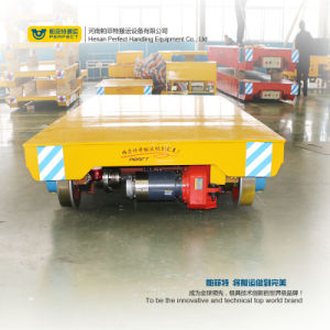 Automatic Guided Material Transfer Cart 10 Ton Rail Trolley pictures & photos