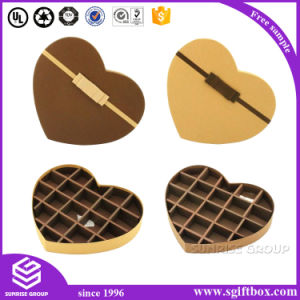 Gift Packaging Paper Chocolate Heart Shape Candy Box pictures & photos