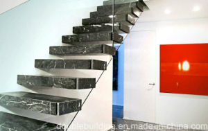 Modern Wood Tread Floating Staircase Design pictures & photos