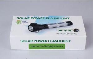 Wholesale Mini Metal Solar Manufacturer Light Solar LED Torch Flashlight pictures & photos
