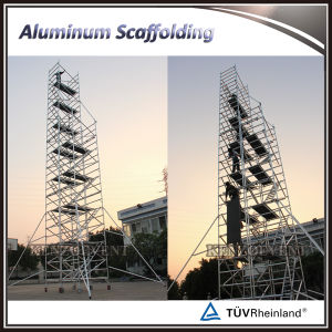 Aluminum Mobile Used Construction Scaffolding with Stair pictures & photos
