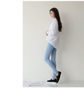 Fashion Ladies Casual Jeans Light Blue Lady Fashion Denim Jeans pictures & photos