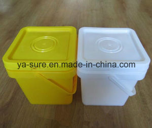 Hot Sale Food Grade Square Plastic Pail for Ice Cream 5L pictures & photos