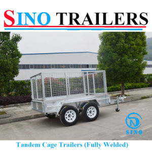 10X6 Tandem Axle Farm Trailer with Cage pictures & photos