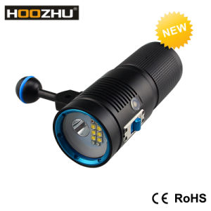 Hoozhu Watrproof 100m LED Flashlights for Diving Video V40d pictures & photos
