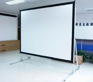Fast Foldable Projection Screen with Wheels pictures & photos