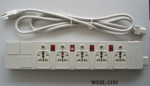 South Africa Type Extension Cord with Switch pictures & photos
