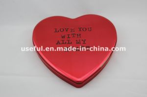 Tin Box with Heart Shape 060