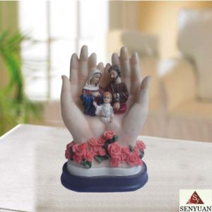 Resin Hand Shape With Religion Figurines (SY907003)