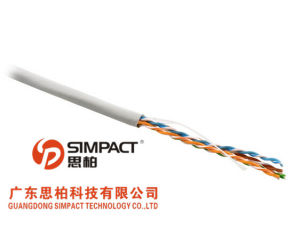 UL/CE/RoHS/ISO Approved Unshielded Twisted Pair LSZH UTP Category 5e Cable-Simpact pictures & photos