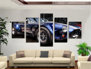 HD Printed Classic Car Cabrio Painting Canvas Print Room Decor Print Poster Picture Canvas Mc-115 pictures & photos