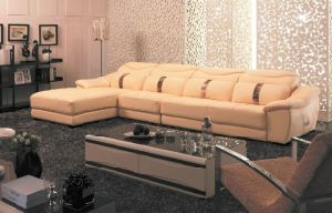 Leather Sofa (D328) pictures & photos