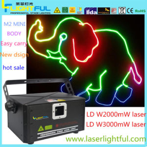 2W RGB in 1 Laser Diode Lazer Animation Effect Show