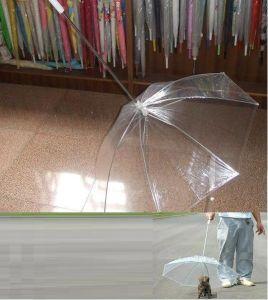 2014 New High Quality Rain Proof Transparent Pet Umbrella