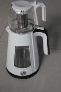 Double Shell Glass Electric Kettle with Tea Pot (ML-1632T)