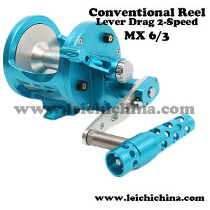 High Quality Low Price Stainless Steel Lever Drag 2 Speed Conventional Jigging Reel pictures & photos