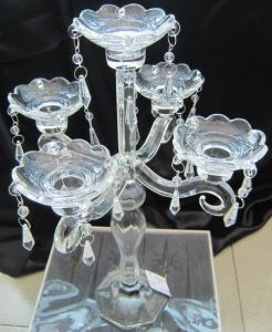 Clear Glass Candle Holder for Home Decoration with Five Posters, pictures & photos
