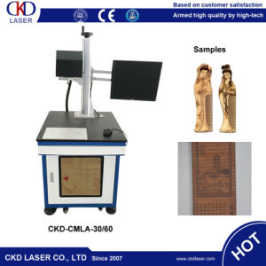 Desk Top CO2 Laser Marking Plastic Wood Engraving Machine pictures & photos