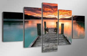 HD Printed Lake Sunset Sky Painting Canvas Print Room Decor Print Poster Picture Canvas Mc-087 pictures & photos
