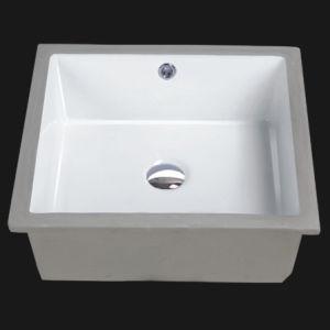 Unique Porcelain Bathroom Undermount Sink (1632)