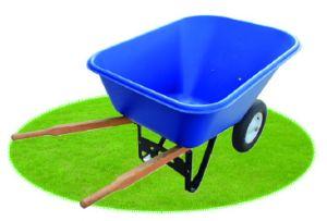 High Load Capacity Dual-2 wheeled Wheelbarrow pictures & photos