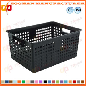 Customized Plastic Fruit Turnover Basket Vegetable Display Container Box (ZHTB9) pictures & photos