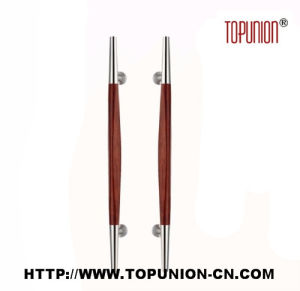 Elegant Design Stainless Steel Wooden Pull Handle (TU-349) pictures & photos