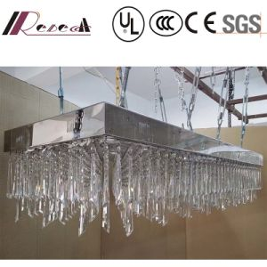 High Quality Hanging Project Lamp Rectangular Luxury Clear Crystal Chandelier pictures & photos