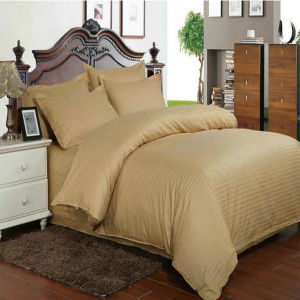 Full Cotton Bedding Sets with Solid Color Stripe Designs pictures & photos
