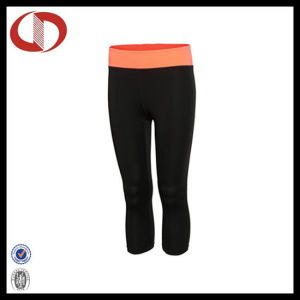 3/4 Length Blank Tights Fitness Pants for Ladies pictures & photos