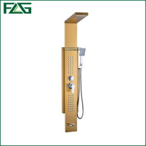 Flg  High Quality Golden  Luxury Mirror Bathroom Waterfall Shower Panel pictures & photos