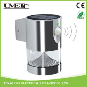 Outdoor Stainless Steel Sensor LED Night Wall Garden Solar Light pictures & photos