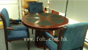 Small Round Meeting Table Wood Veneer Finished (FOHR-01) pictures & photos